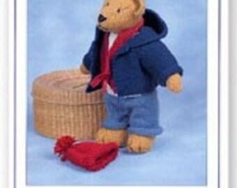 Bertie Teddy Bear Knitting  Pattern , Toy knitting pattern by Sandra Polley, Teddy bear  toy pattern, teddy knitting pattern