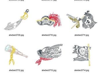 Zig-Zag-Pirates ( 10 Machine Embroidery Designs from ATW )