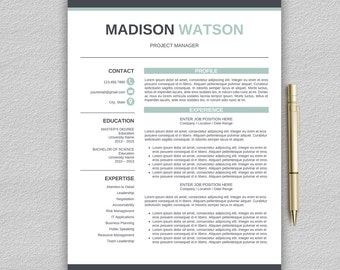 Creative Resume Template for Word + Cover Letter / Professional Resume Template | CV Template for Word | Modern Resume Template | Modern CV