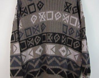 Vintage Grey Pattern Jumper