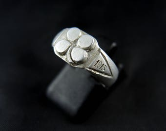 """Ring of soldier """"Hairy"""" aluminium, first World War - 1914/1918 / / / Antique aluminium french soldier ring, WW1 - 1914/1918"""