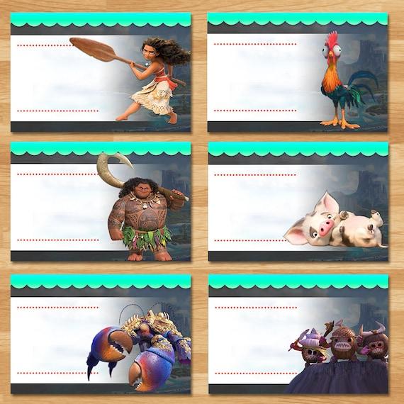 Moana Food Tents Chalkboard Moana Food Labels Disney
