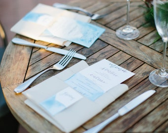 Hand Watercolored Wedding Menus