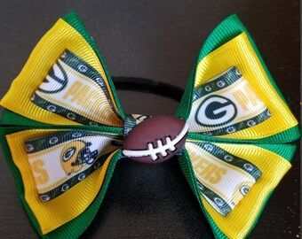 GreenBay Packers Football Bow