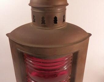 Vintage Wilcox, Crittenden and C0 Inc. Port Nautical Light Lantern Boat Lantern