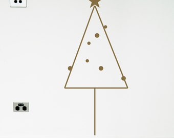 CHRISTMAS TREE vinyl wall sticker decal