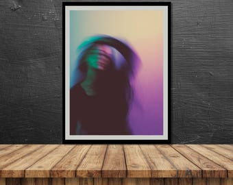 Blurred // Poster, Photography, Model, Abstract, Motion, Pastel, Colours, Print, Wall Decor, Home Decor, Studio, Unique, Gift, Berlin, dance