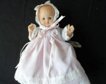 Munecas Flor Mexican Flower Doll Rubber Baby Doll with Cloth Body  1194