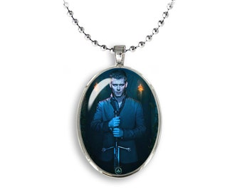 Niklaus Mikaelson Oval Pendant Vampire Diaries Necklace Joseph Morgan Vampires Fangirl Fanboy
