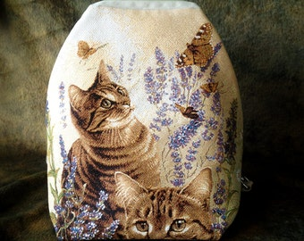 "Backpack ""Cats in the thickets"""