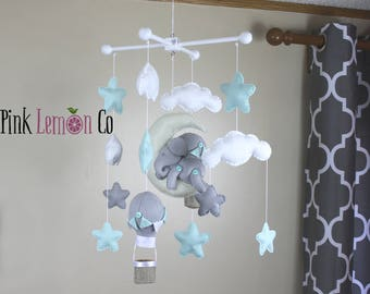 Baby Mobile-Elephant and Hot Air Balloons Baby Mobile