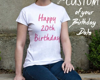 Birthday Shirt Personalized Shirt Custom Womens Tshirt Custom Womens Birthday Womens Custom Shirt Womens Women Customized Shirt PF000