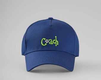 Coach Cap Embroidered Baseball Hat Football Soccer Sports Gift For Him