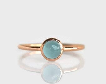 aquamarine ring rose gold, aquamarine ring 6mm, aquamarine ring gold, aquamarine ring silver, aquamarine stack ring, natural aquamarine ring