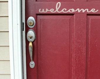 Welcome Stickers Welcome Wall Decal Door Sign Vinyl Letters Front Door Decor Decals for Door Home Interior Design
