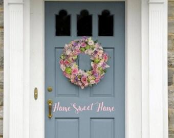 Home Sweet Home Vinyl Door Decal
