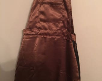 Silk Brown Pinafore Dress Size XS/S