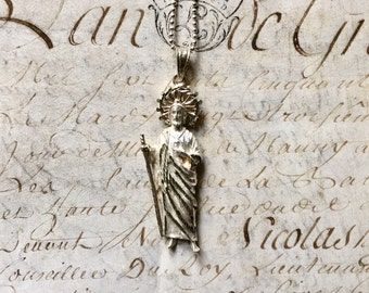 Jesus Christ Silver Pendant, A Wonderful Sterling Silver Jesus Pendant on a Chain from Mexico