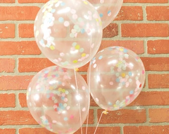 confetti balloon multicolor balloons set of confetti balloons birthday decoration bridal shower