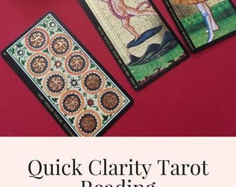 Quick Clarity Tarot Email Reading