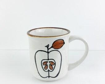 Vintage Mod Apple Ceramic Coffee Mug
