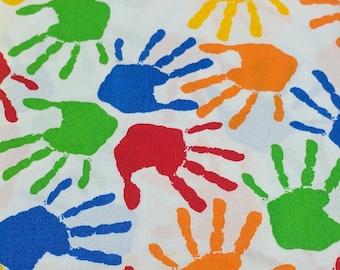 All-Over Handprint Cotton Fabric from JoAnn Fabrics