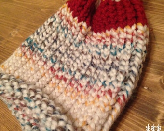 KIDS' hat. Natural colors. Made by mom. Matching grown up hat sold separately