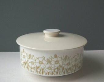 Vintage Hornsea Pottery Casserole Dish, Casserole Pot, Serving Dish, Serving Pot, Vegetable Dish, Fleur, Ceramic Dish, Gift Idea, Tureen