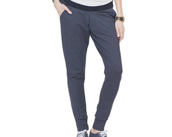 Maternity Active Track Pants, Pregnancy Track Pants, Pregnancy Yoga Pants, Low-rise Pants, Maternity Pants, Pregnancy Pants