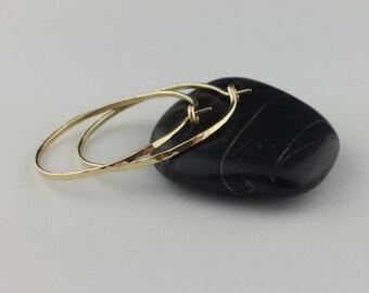 Hammered 18k Gold Hoop Earrings, Thick 18k Hoop Earrings, 18g, Solid Gold Hoops, Solid 18k Gold Hoops, Gold Hammered Earrings, Round Hoops