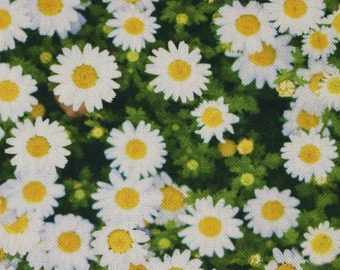 Solid cotton fabric daisies Daisy flower garden - 100% pure cotton