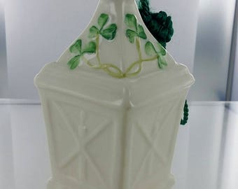 "Porcelain ""Belleek,"" Ireland Lantern Bell Ornament"
