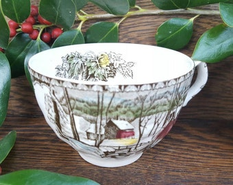 1950's Christmas Decorations/Dishes!-Friendly Village China- Vintage Teacups-Johnson Bros 1950's Vintage China- Christmas.