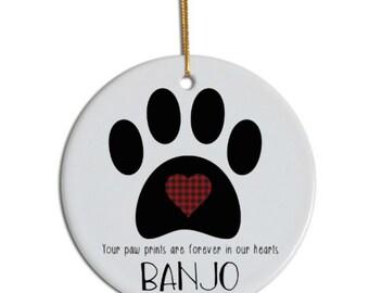 Pet Memorial Ornament, Pet Loss Ornament, Pet Remembrance Ornament, Pet Ornament, Custom Pet Ornament, Pet Life Ornament, Life Celebration