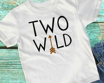 Boys 2nd Birthday Shirt - 2nd Birthday Shirt - Two Wild Shirt - 2nd Birthday Boy - Two Year Old Birthday - Two Year Old Birthday Shirt