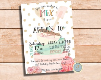 Mixng it Up Party Invitation