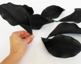 Lot of 24 Calla Lilies Foam Flowers Black Flower Flower Supplies Faux Fake Calla Lily
