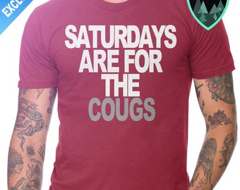 Official Saturdays are for the Cougs Shirt, Washington State Football, Washington Cougars Football, Cougars Football, Saturday Crimson Grey