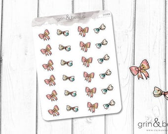Pink Bows Stickers (DS008)