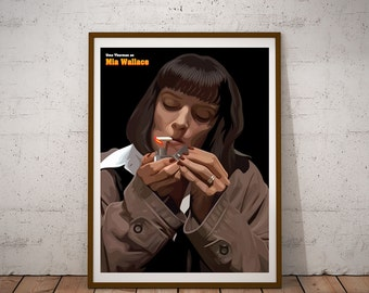 Uma Thurman as Mia Wallace illustration