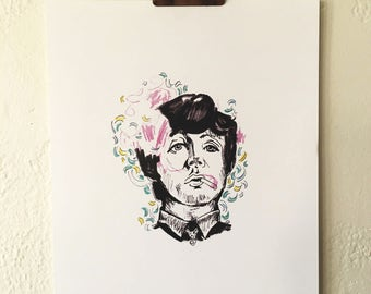Paul McCartney print - 8x10 inches