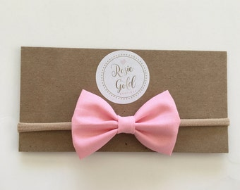 Large Bow : Solid Baby Pink