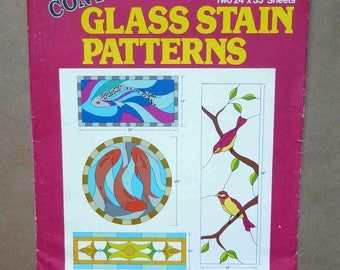 Stained Glass Patterns - Contemporary Glass Stain Patterns By TITAN - Full-Size Stained Glass Patterns - Stained Glass Designs