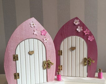 Wooden fairy door etsy for Wooden fairy doors