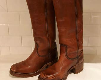 "Vintage Frye Campus 15"" Leather Boots"