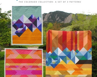 The Colorado Collection – A set of 3 patterns - PDF Quilt Patterns: Welcome to Colorful Colorado, Mountain Baby & Pueblo Mesa