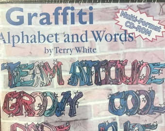 57 Graffiti Alphabet and Words machine embroidery designs on CDROM by Inspira - on Clearance sale