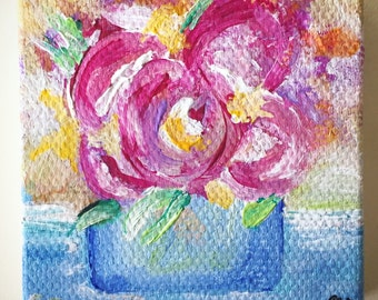 Flowers - 1 inch Acrylic Painting