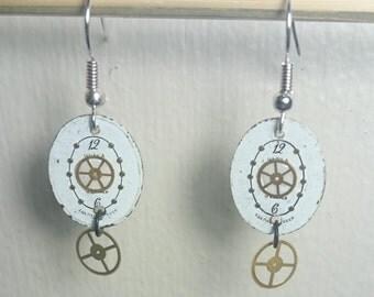 50% Off! Handmade Chaika Watchface Dangle Earrings