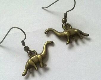 Handmade dinosaur earrings